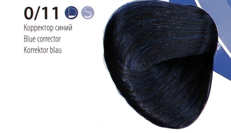 Крем краска ESTEL DE LUXE Корректор 0/11 Синий, 60 мл
