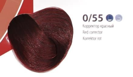 Крем краскаESTEL DE LUXE Корректор 0/55 Красный, 60 мл