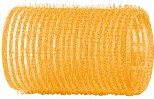 Бигуди-липучки DEWAL, желтые d 32 мм 12 шт/уп