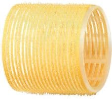 Бигуди-липучки DEWAL, желтые d 65 мм 6шт/уп