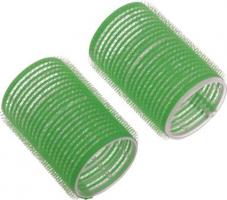 Бигуди-липучки DEWAL, зеленые d 20мм 12шт/уп