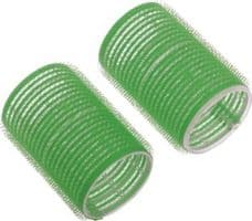 Бигуди-липучки DEWAL, зеленые d 61мм 6шт/уп