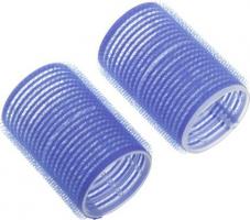 Бигуди-липучки DEWAL, синие d 16мм 12шт/уп