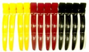 """Зажим для волос DEWAL""""Волна"""" цветной, пластик, 8 см 12 шт/уп"""