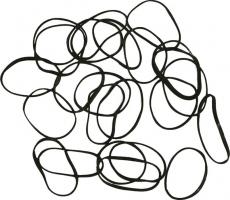 Резинки для волос DEWAL, силиконовые, черные mini 100 шт/уп