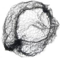 Сеточка для волос DEWAL, черная 2 шт/уп