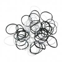Резинки для волос DEWAL, силиконовые, черн./белые, mini 100 шт/уп. DEWAL